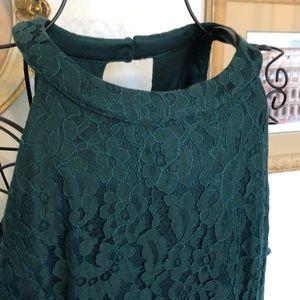 Francesca's Blue Rain lace dress NWT size L